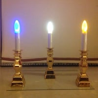 9 CHRISTMAS HOLIDAY CANDLES with SENSOR SETTING & 3 SEPARATE FLAMES Metuchen, 08840