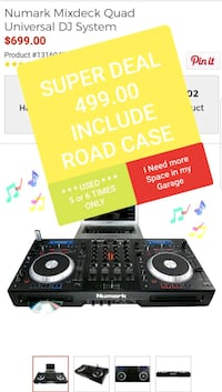 black and gray DJ controller with box Los Angeles, 90014