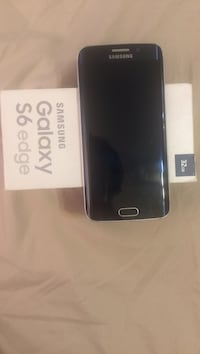 Blue samsung galaxy s6 edge with box Toronto, M9M