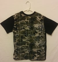 Black World Map Short Sleeve T-Shirt 69 mi