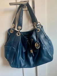 Michael Kors leather navy ourse Langley, V3M