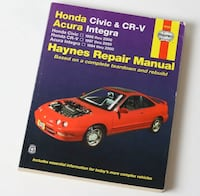 Honda Civic Repair Manual 96-00, Acura Integra & CRV Vaughan, L4H 4G5