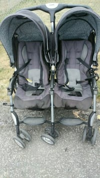 baby's black and gray twin stroller Toronto, M3H 1T7