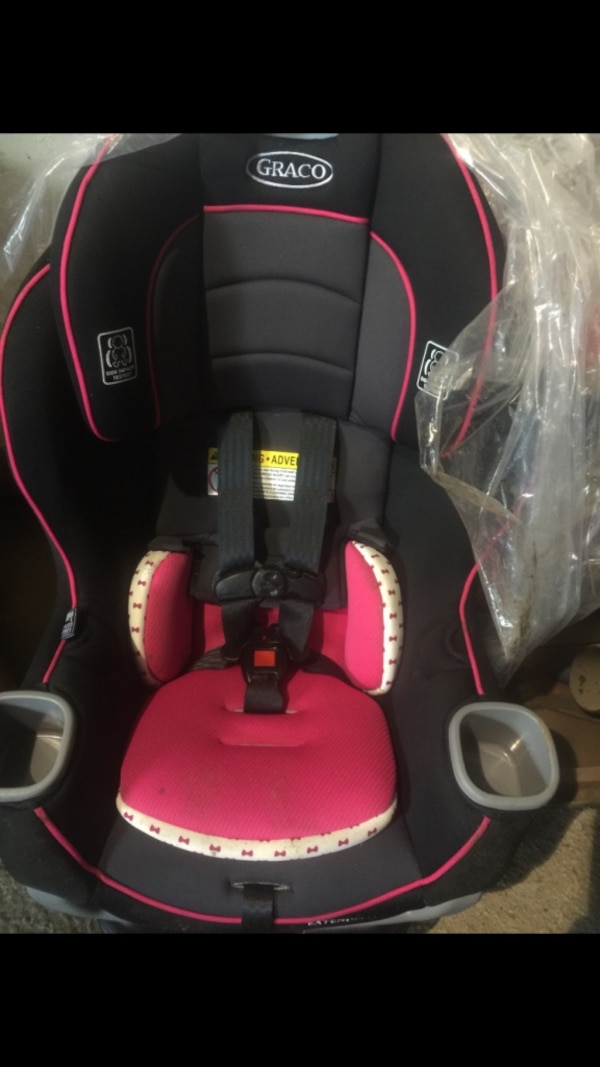 Babys Black Grey And Pink Graco Booster Seat