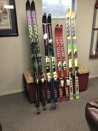Vintage Skis 4 pairs - Two K2, Olin Mark I, Dynastar and four sets of poles Weirton, 26062