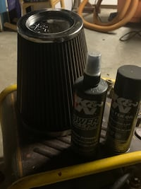 K&N air filter and cleaner