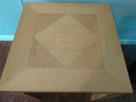 brown wooden square side table