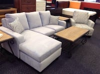 Brand New!!! Periwinkle Sectional Style Sofa with Accent Chair