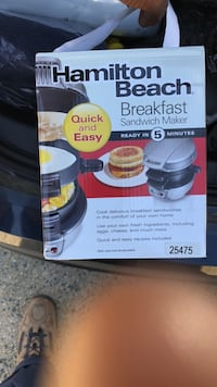 Hamilton Beach Breakfast Sandwich Maker box Springfield, 22151