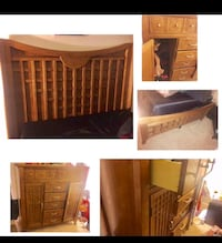 Queen size bed frame and wardrobe