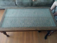 Coffee table..glass top..great condition!!
