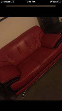 Black & Red Sofa Set Coffee table and 2 side tables $350 I paid 1,800 New Orleans, 70127