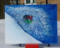Skiing 40x30 inches acrylic painting  Vaughan, L4J 6G9
