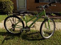 green and black hardtail mountain bike Silver Spring