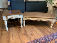 Vintage refurbished coffee table and two side tables Calgary, T3B 1M2