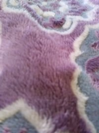 purple and white fur area rug Los Angeles, 90033