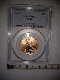 Investment Grade 1/2 Oz Gold Coin MS 69 $25 Gold  Christmas Gift Alexandria