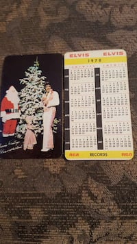 1978 RCA records elvis pocket calendar