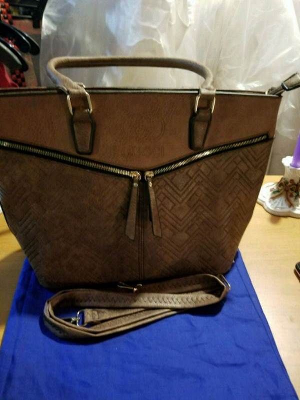 brown leather crossbody bag with wallet
