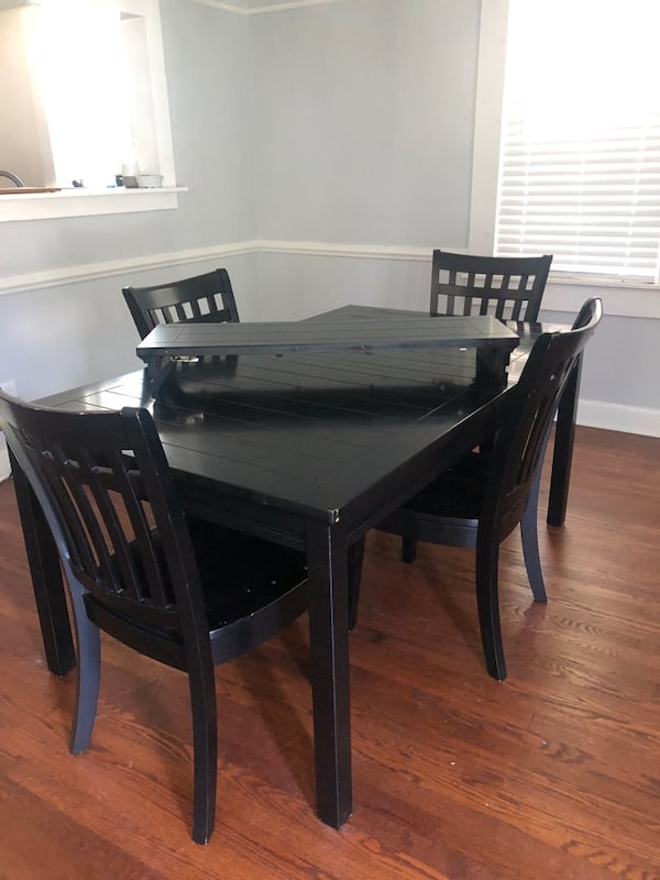 Black Wood Dining Table  5c967979-328a-458c-8330-af03cbdd0b85