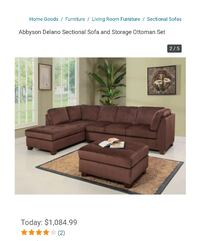 Delano sectional ( new ) Tampa