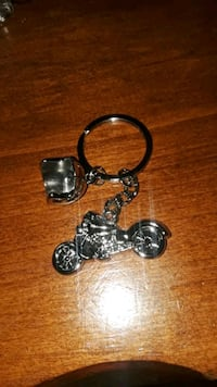 New Motorcycle and Helmet Keychain