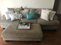 Sofa and ottoman for $200. Non-negotiable. Decor not included   Houston, 77077