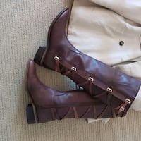 Leathet bcbg riding boots gently used Oakville, L6H 4H5