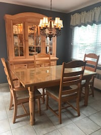Dining room set. Break front and table.  Miller Place, 11764