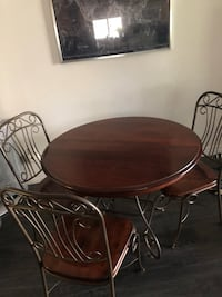 Solid Wood Table and 3 chairs Toronto, M4M 2L9
