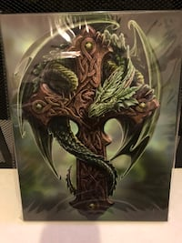 ANNE STOKES WOODLAND GUARDIAN WALL CANVAS Halifax