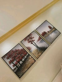 three assorted color of flower paintings Mississauga, L5L 3H1