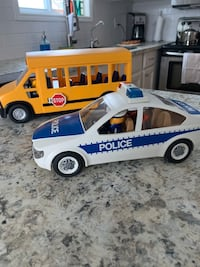 Playmobil School Bus and Police Car