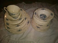 two white-and-blue floral ceramic canisters Hagerstown, 21740