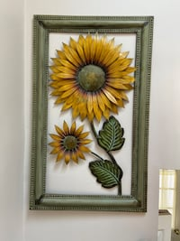 Sunflower Framed Metal Art Print Whitby, L1N 7C4
