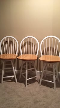 three white-and-brown wooden windsor chairs Lorton, 22079