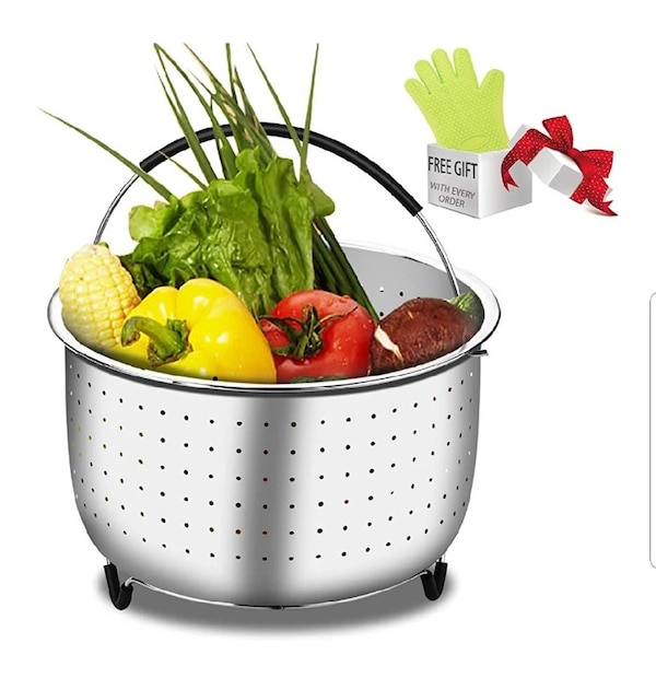 6 to 8 quart steamer insert stainless steel with oven mitt pickup mcsherrystown food lion  9907a86c-4939-4b1a-a46b-f4a1f51bbf87
