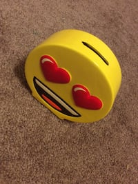yellow and red Emoji coin bank Coeymans, 12143