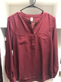red button-up long-sleeved shirt Panama City, 32401