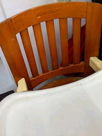 Wodden Eddie Bauer high chair