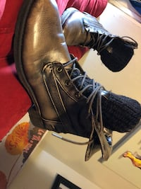pair of black leather work boots Little Rock, 72204