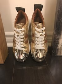 pair of white Adidas low-top sneakers Toronto, M8V 0H1