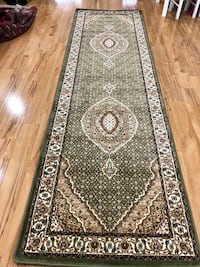 Brand new green hallway runner carpet size 3x10 nice Turkish rug runners and carpets Persian Tabriz style  Burke