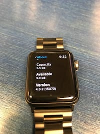black smartwatch with red strap Arlington, 22205