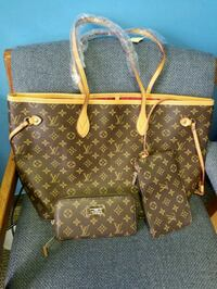 brown monogram Louis Vuitton leather tote bag and wallet Knoxville, 37918
