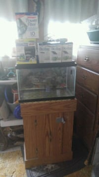 brown wooden cabinet with fish bowl Ellenville, 12428