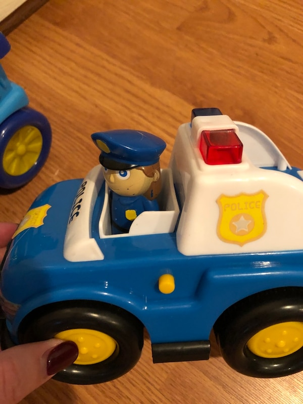 Toddler toy train and police car- lights up and makes noises 1860d120-4d48-45ca-b56e-3a1de591eff6