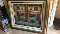 brown wooden framed painting of house Town and Country, 63017