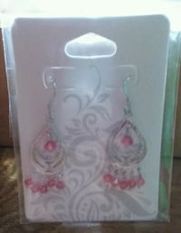 Lovely Silver and Pink Crystal Earrings  Minneapolis, 55414