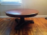 round brown wooden pedestal table Knoxville, 37921